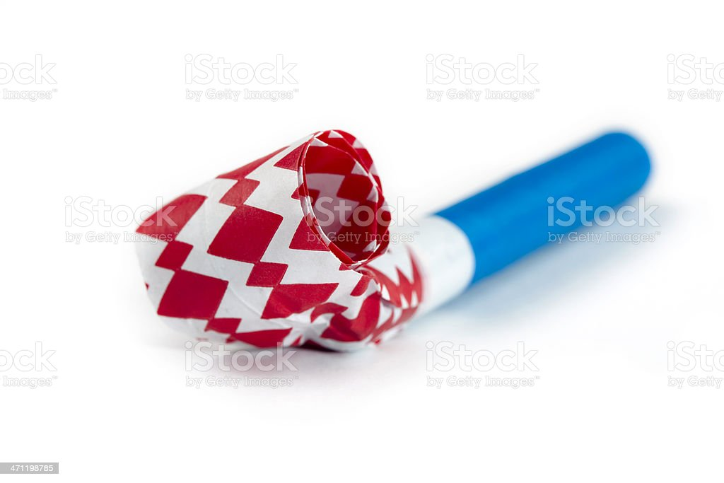 Party blower isolated on white royalty-free stock photo