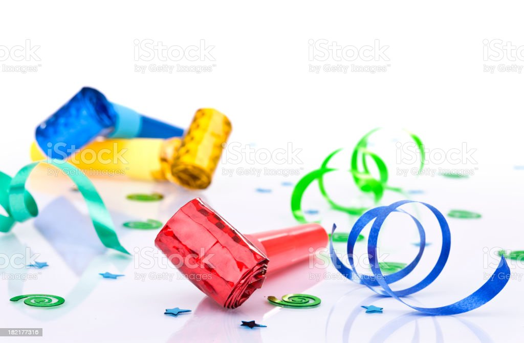 Party Blowers royalty-free stock photo
