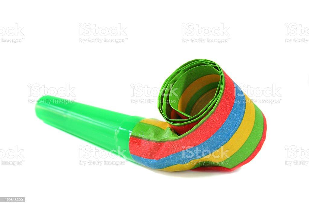 party blowout - nois maker stock photo