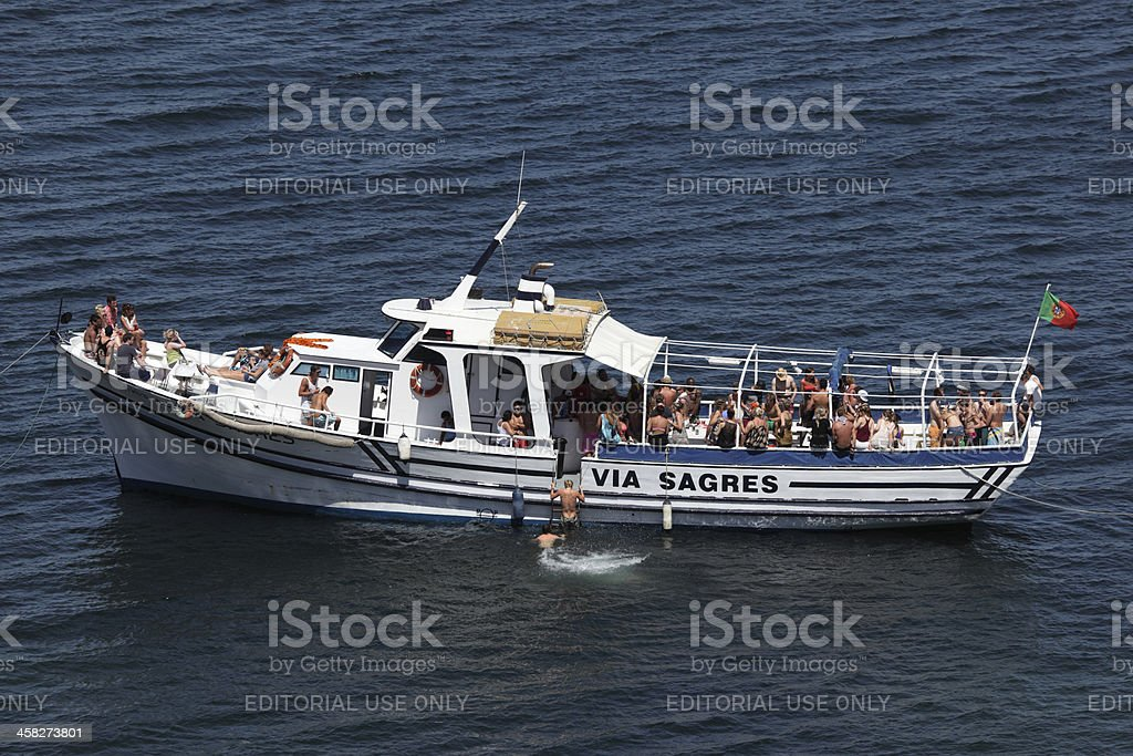 Party boat in Portugal royalty-free stock photo