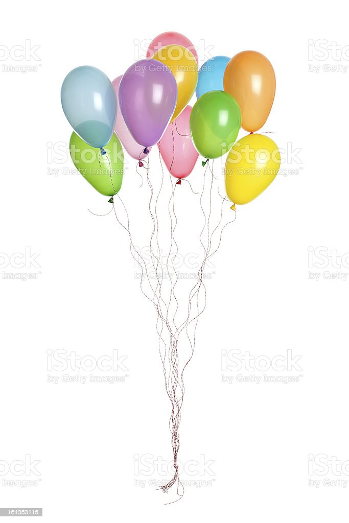 Party - Bunch of Balloons royalty-free stock photo