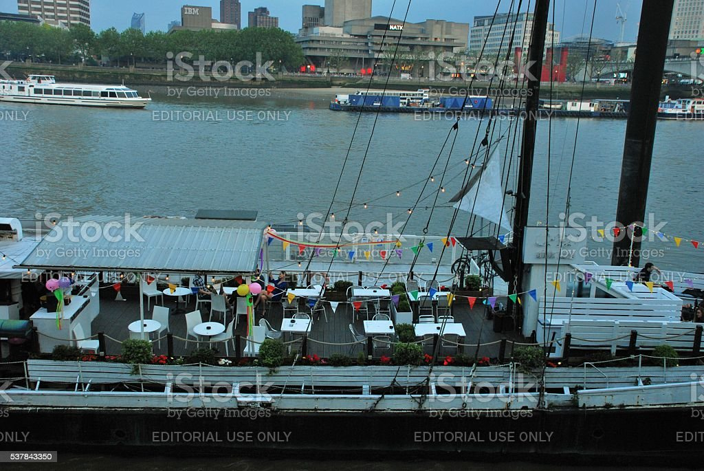 Party by the River stock photo
