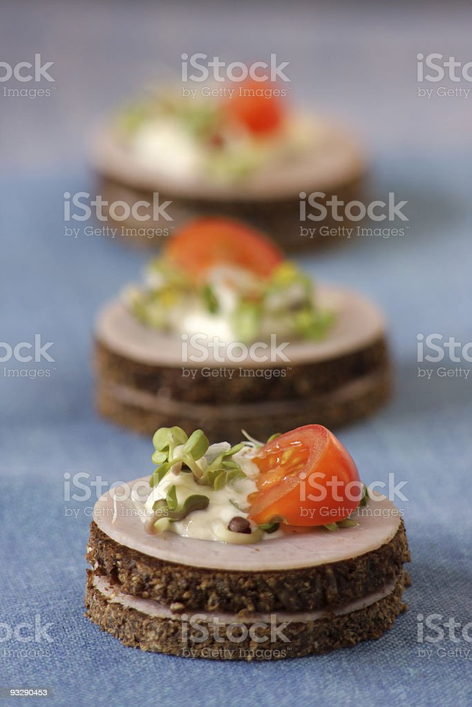 Party canapes stock photo