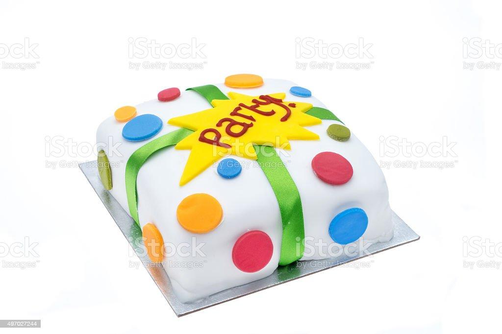 Party celebration cake stock photo