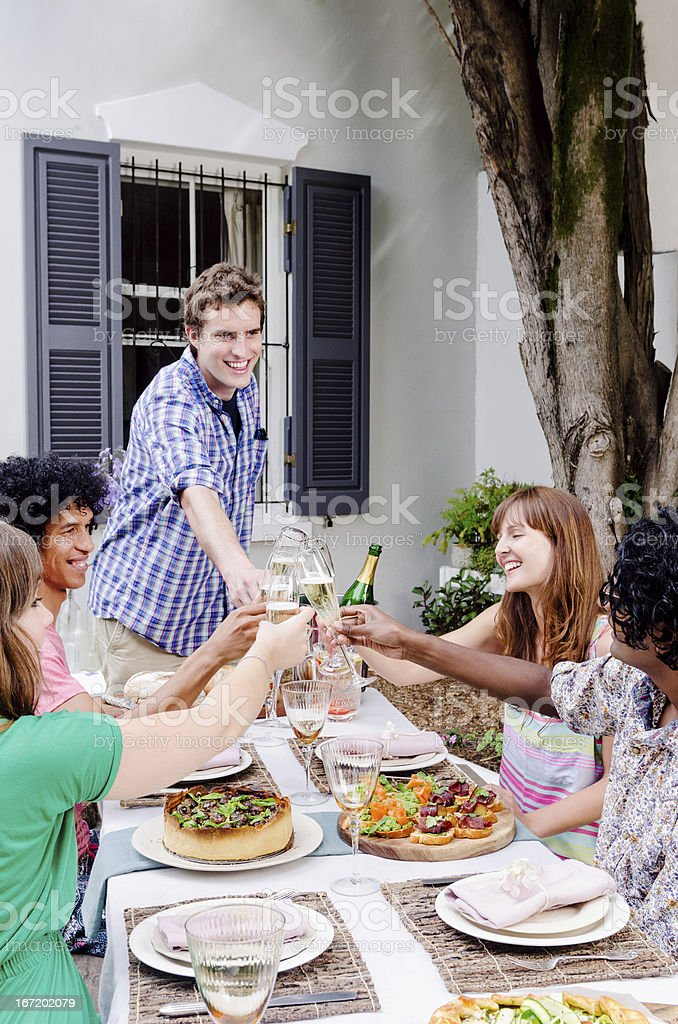 Party celebration with friends royalty-free stock photo