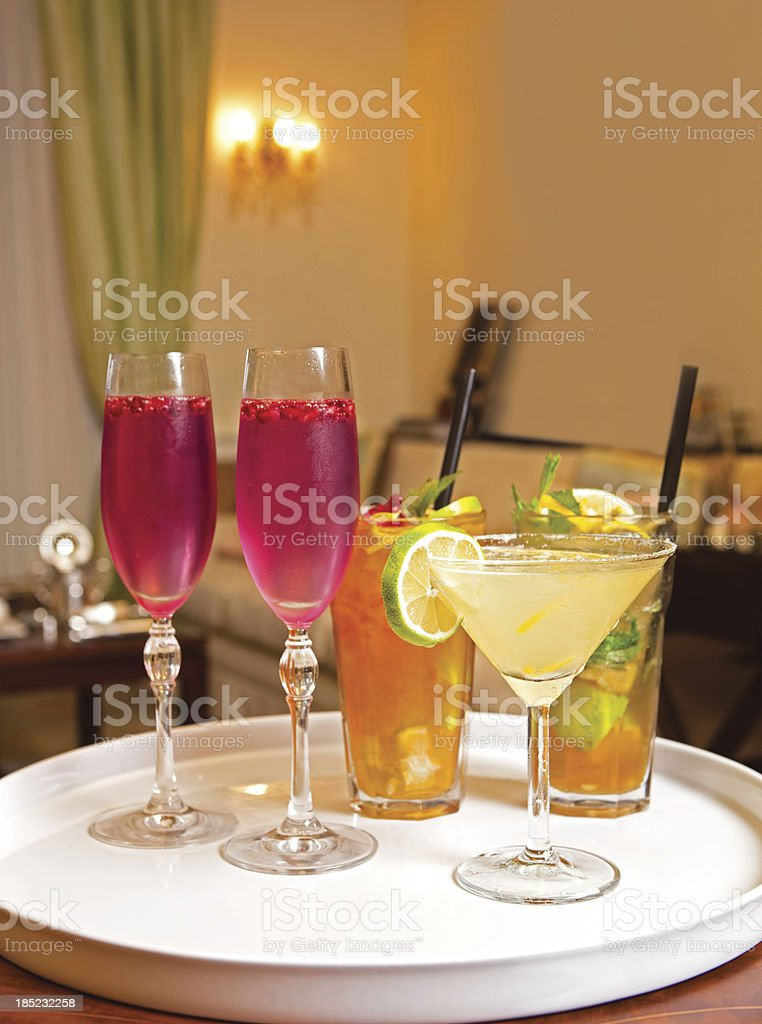 party cocktails stock photo