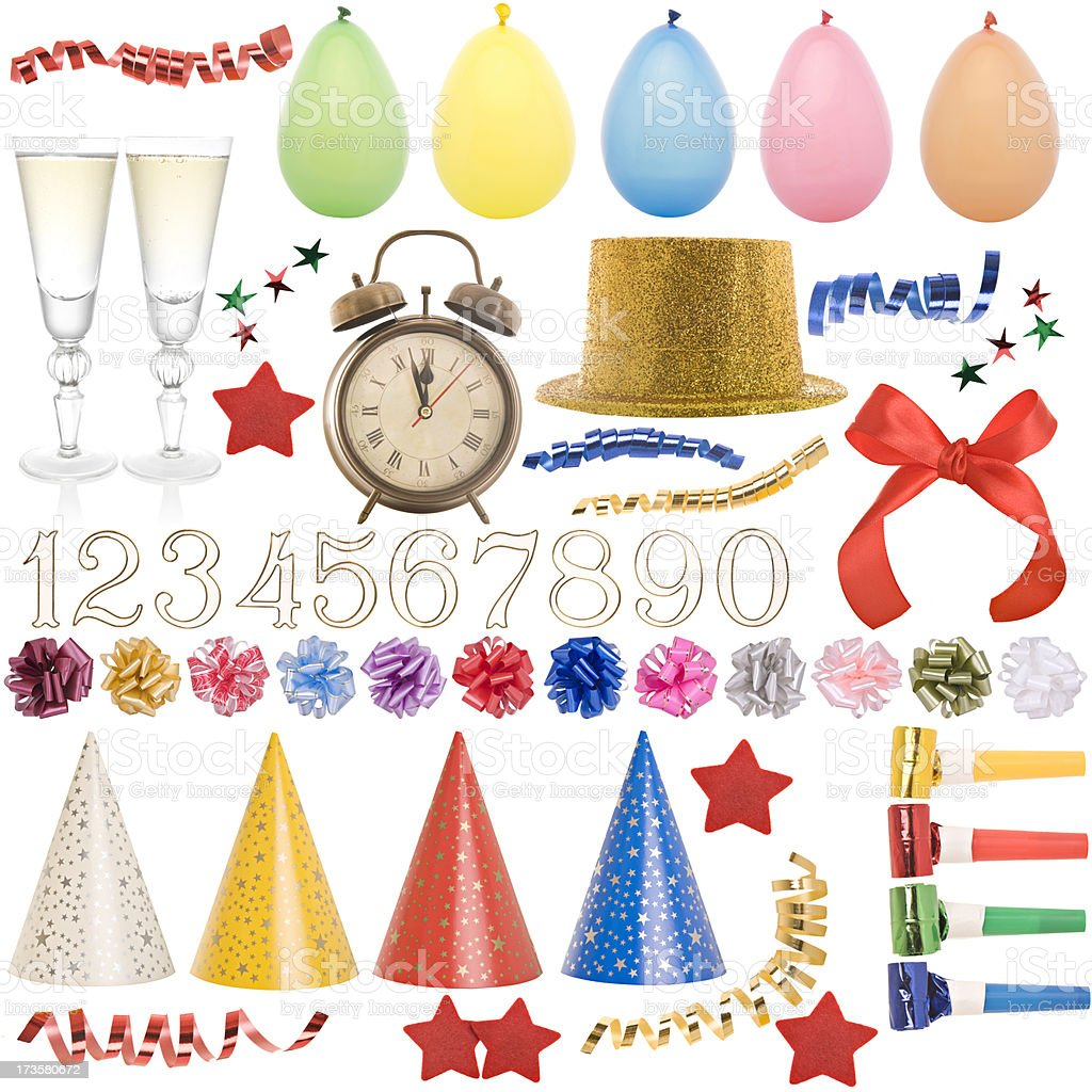 Party collection royalty-free stock photo