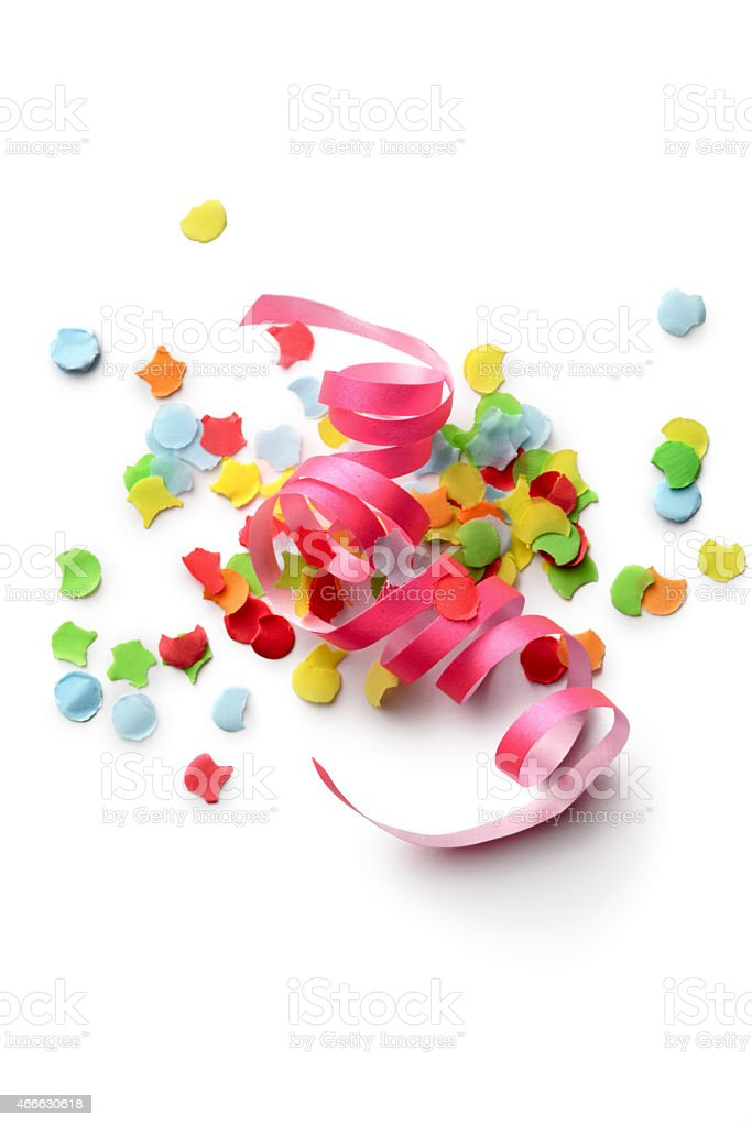 Party: Confetti and Streamer stock photo