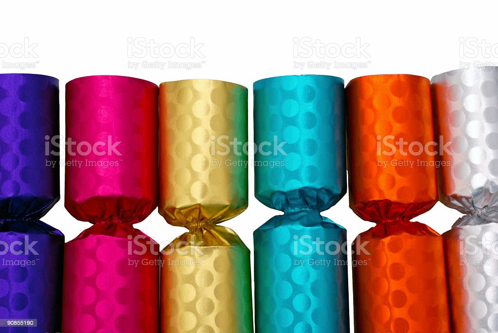 Party Crackers stock photo