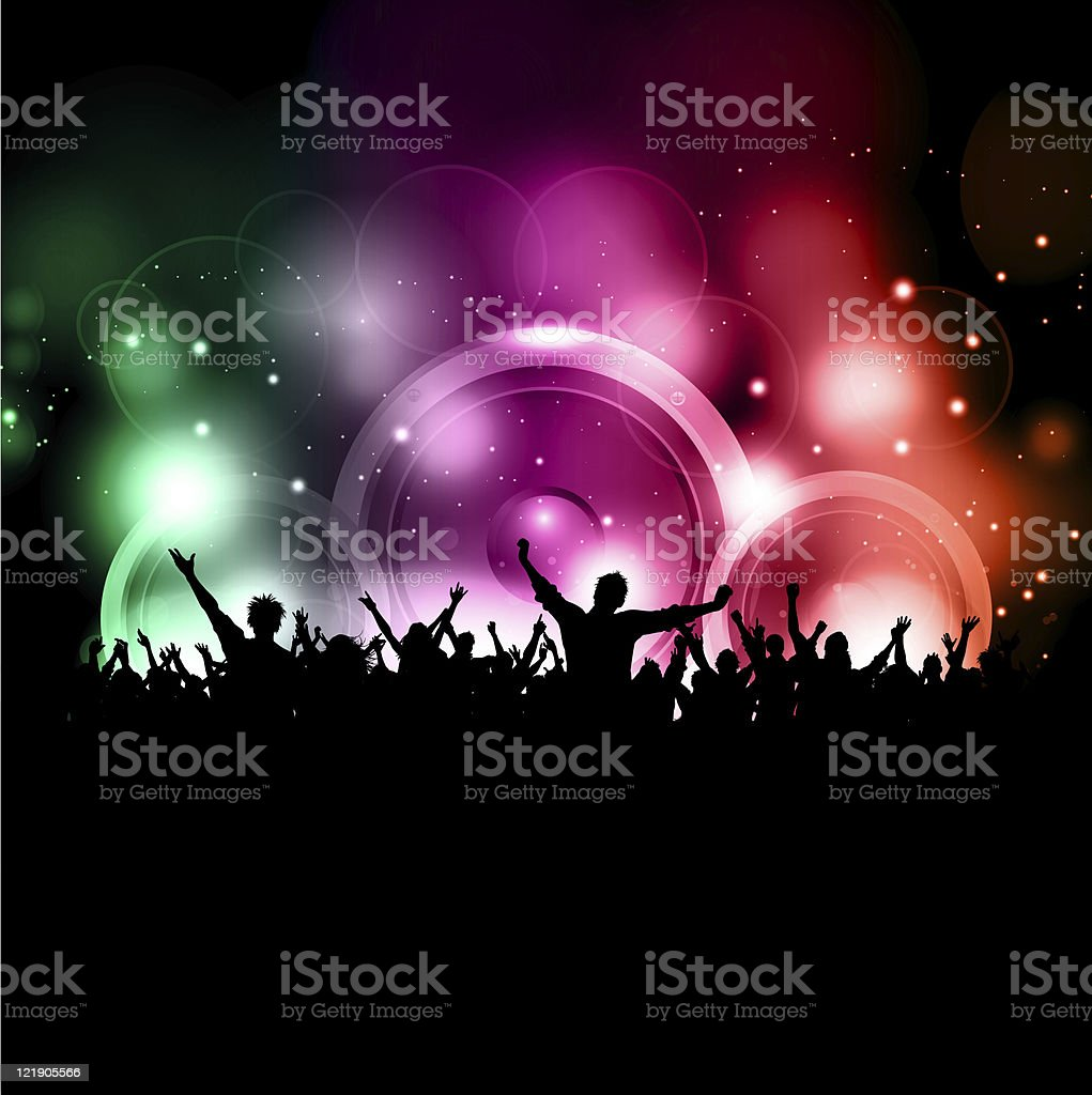 party crowd royalty-free stock photo