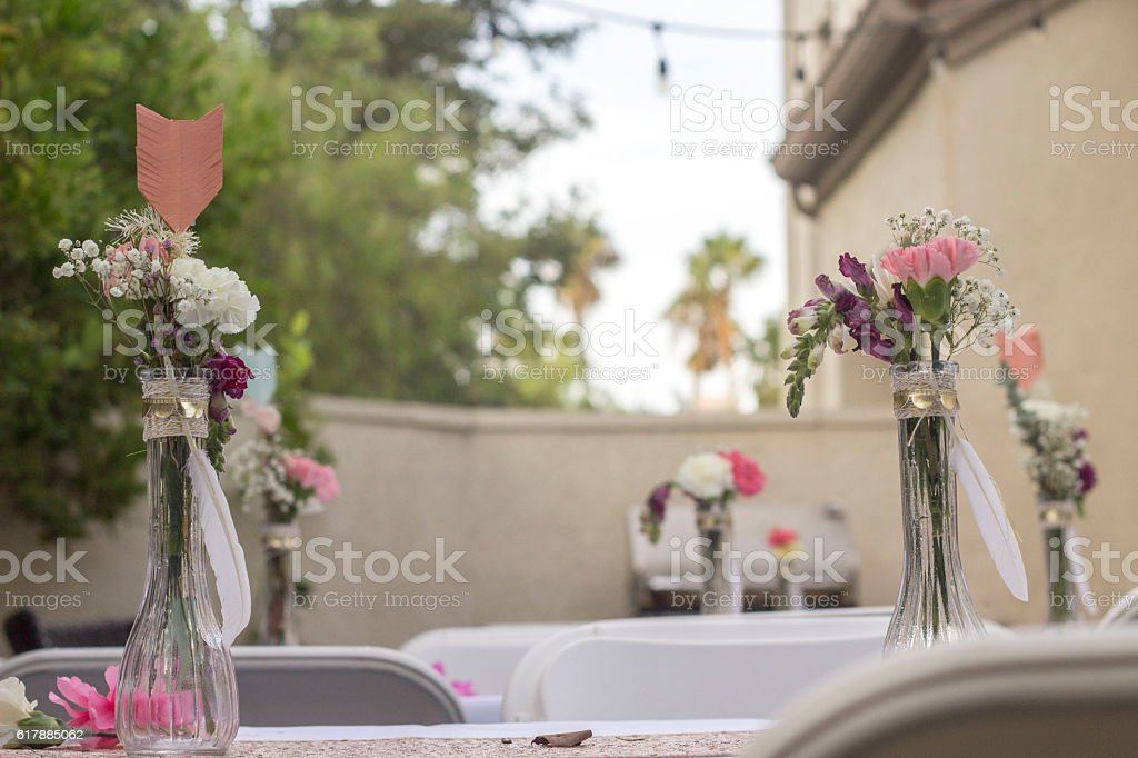 Party decor stock photo