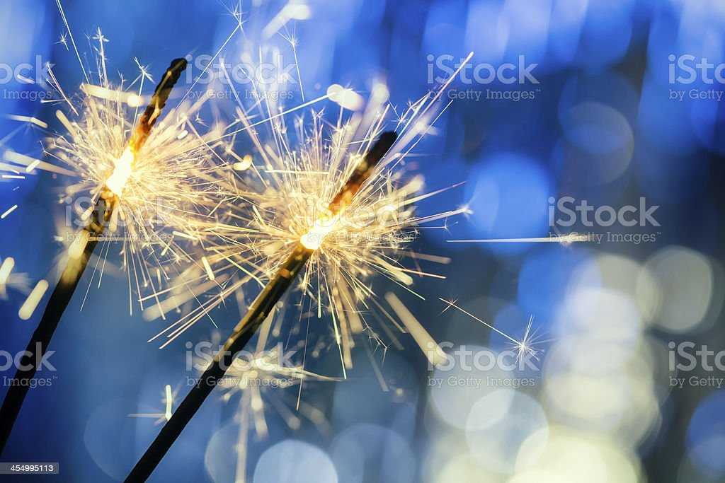 Party Decoration with Sparklers stock photo