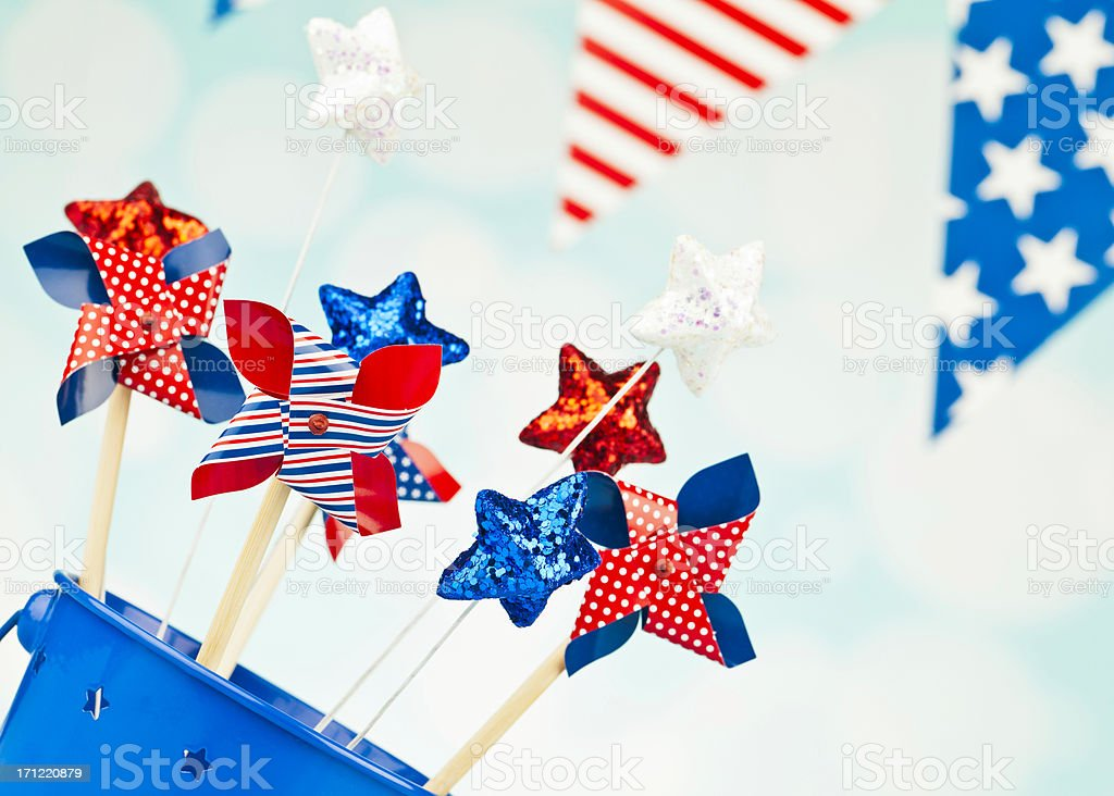 Party Decorations for July Fourth royalty-free stock photo