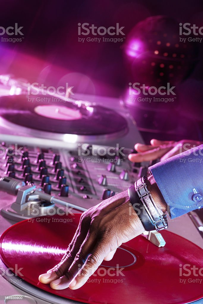 Party DJ Close-up stock photo