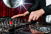 Party DJ in nightclub