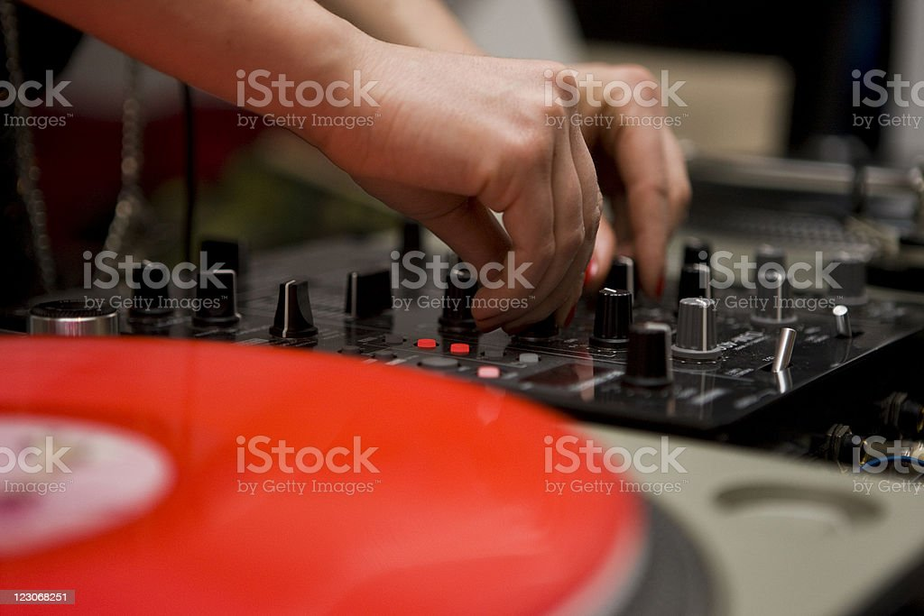 Party DJ royalty-free stock photo