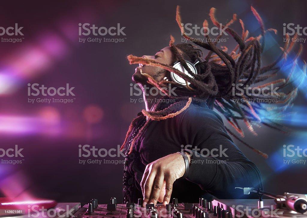 Party DJ royalty-free stock photo