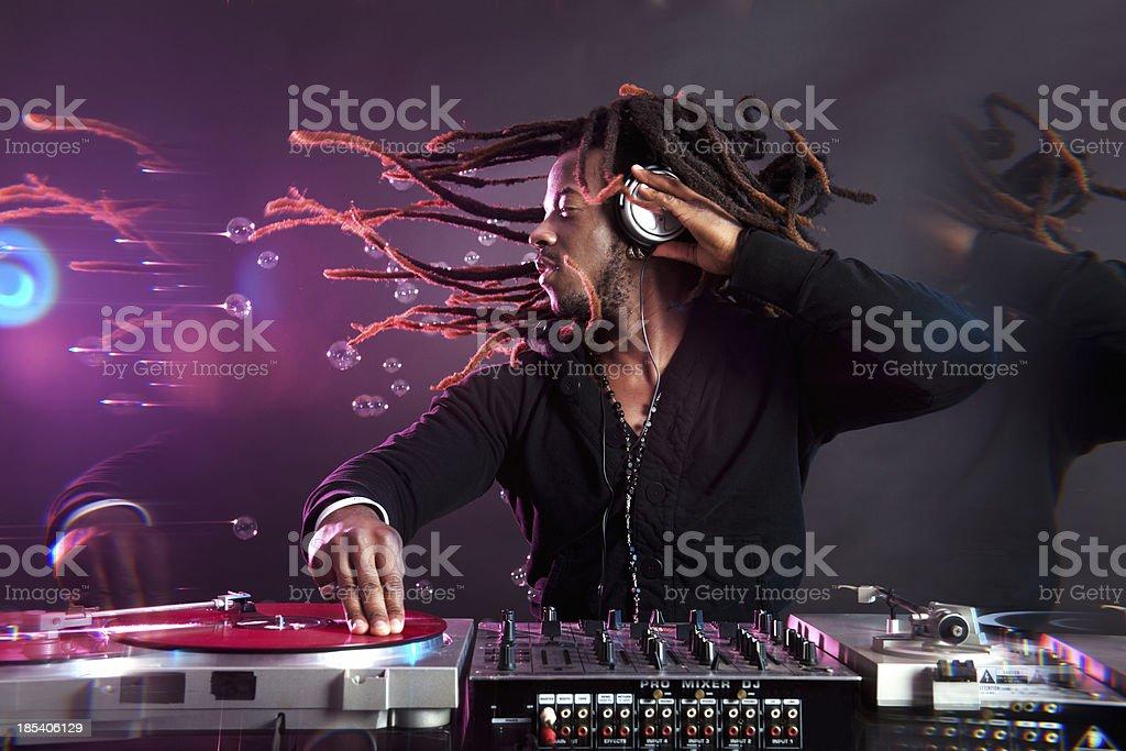 Party DJ stock photo