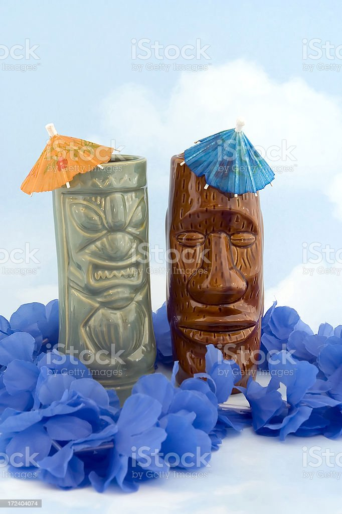 Party drinks on cloud backdrop royalty-free stock photo