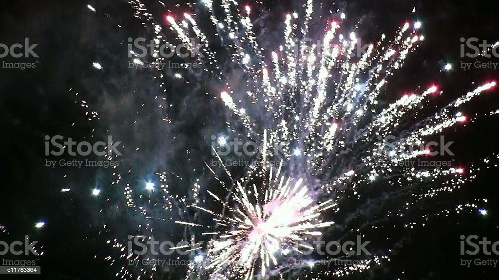 Party Fireworks stock photo
