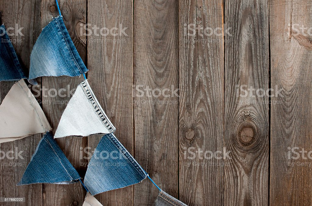 Party flags garland with space for text stock photo