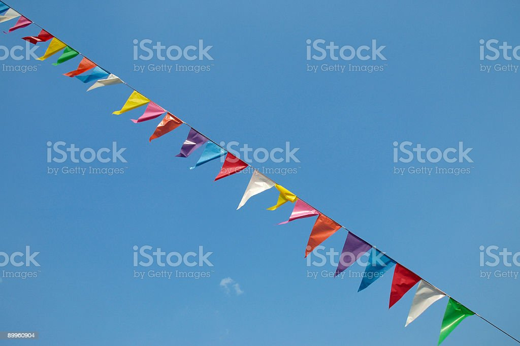 Party flags stock photo