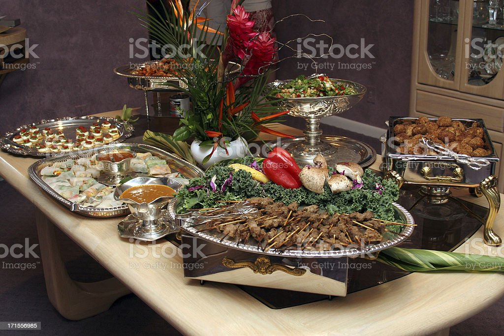Party Foods royalty-free stock photo
