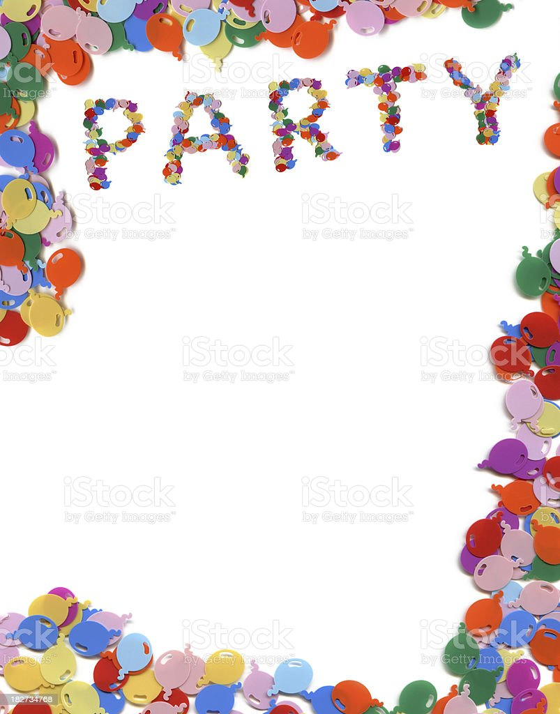 Party frame royalty-free stock photo