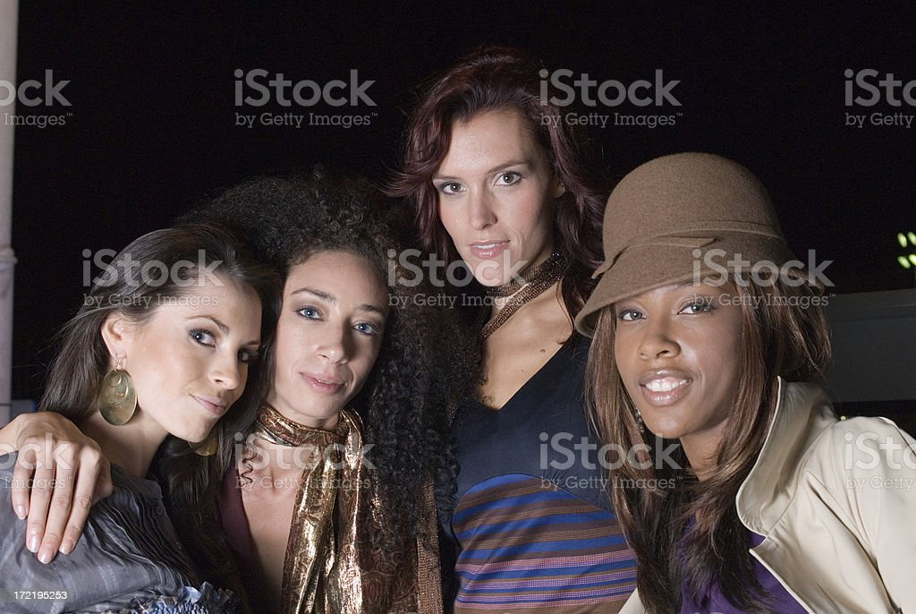 Party Girls at Night royalty-free stock photo