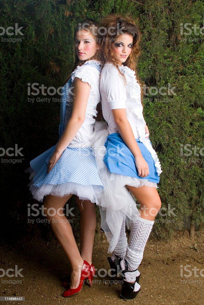 Party Girls : Fancy Dress - Laura & Aida royalty-free stock photo
