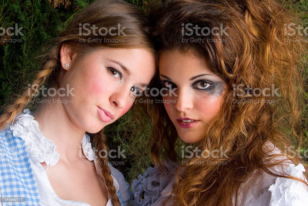 Party Girls : Fancy Dress - Laura & Aida royalty-free stock photo