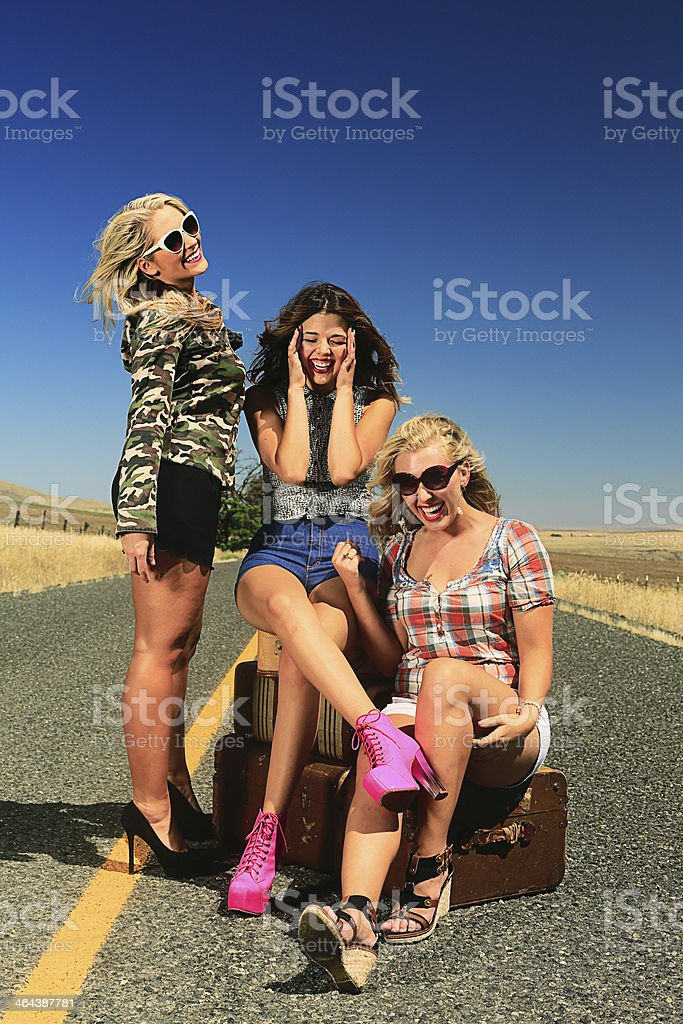 Party Girls Laughing royalty-free stock photo