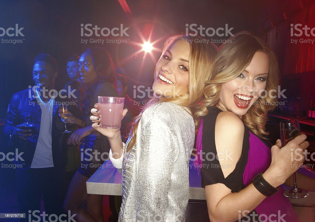 Party girls! royalty-free stock photo