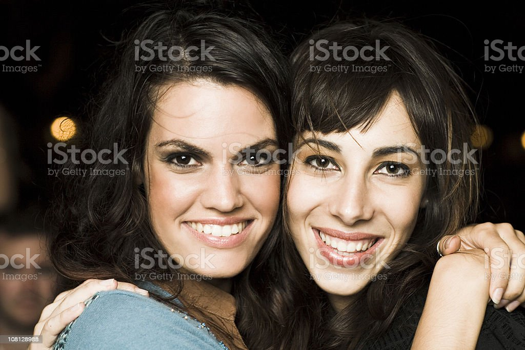 party girls smiling royalty-free stock photo