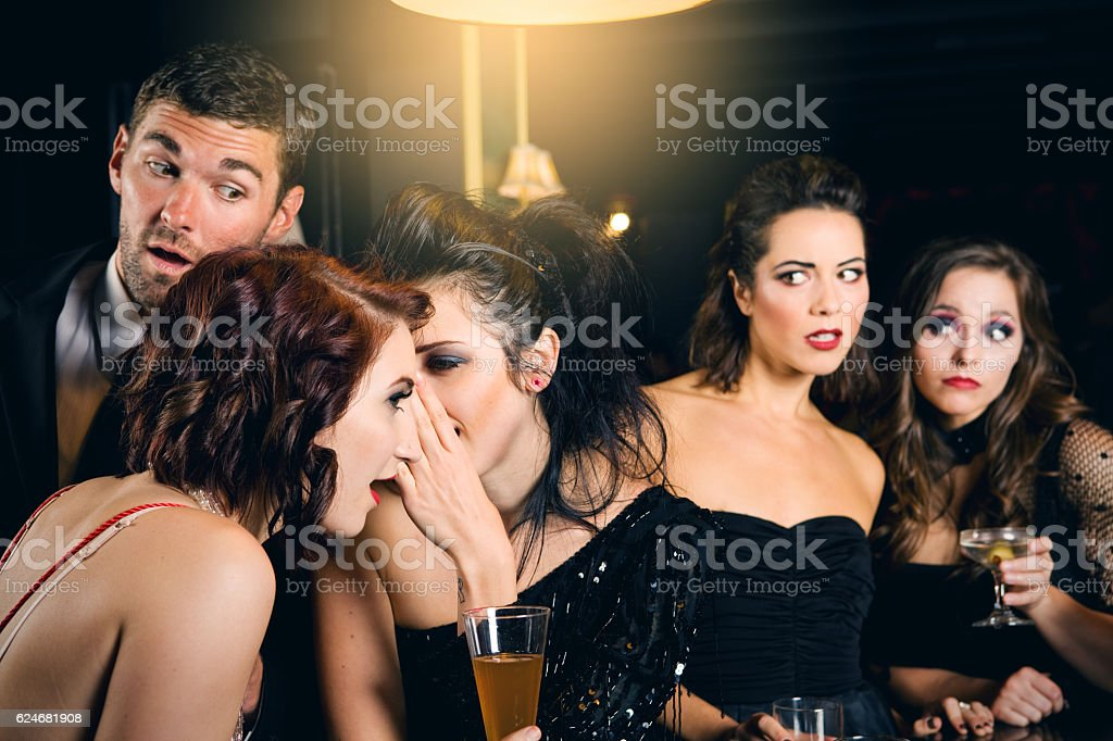 Party Gossip stock photo