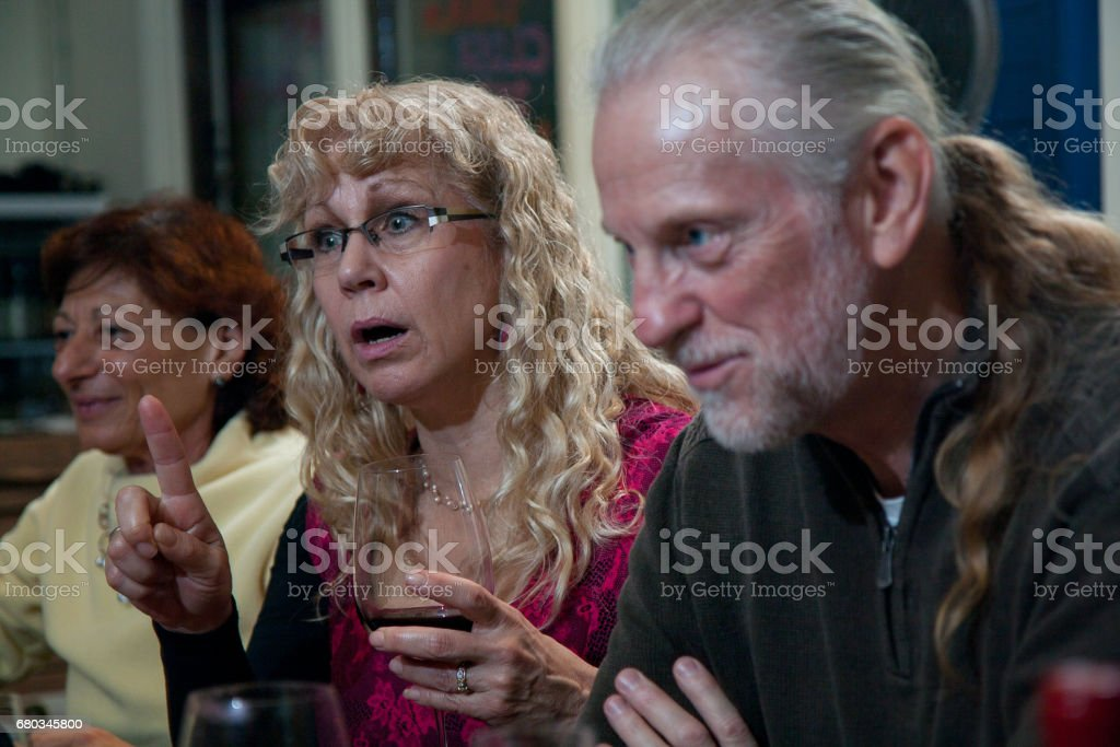 Party Guests stock photo