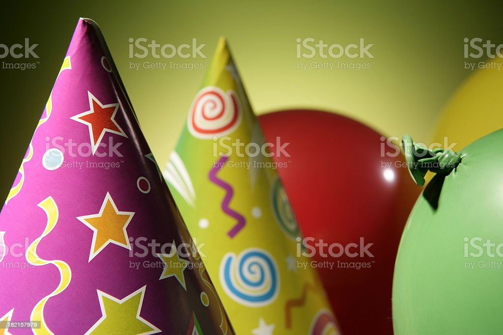 party hat and balloon royalty-free stock photo