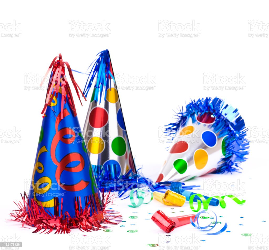 Party Hats and Blowers stock photo