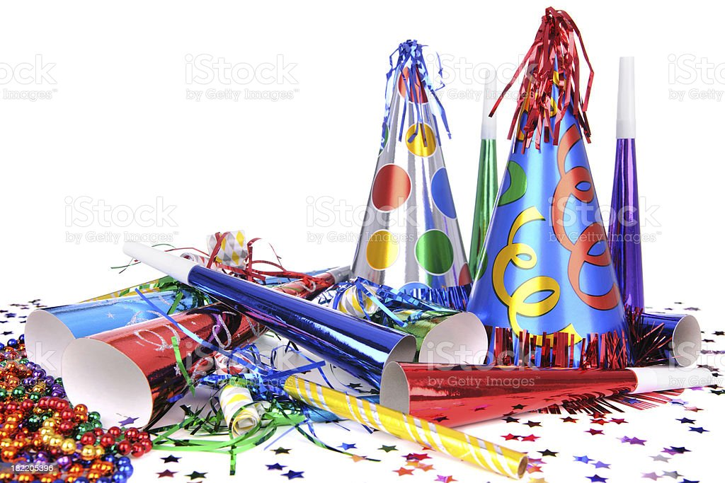 Party Hats And Horns stock photo