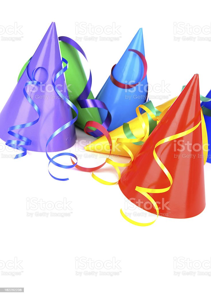 Party Hats And Ribbon royalty-free stock photo