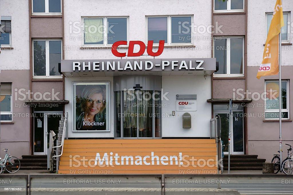 CDU party headquarters Rhineland Palatinate stock photo