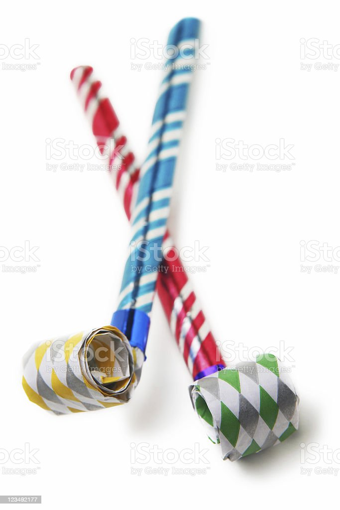 party horn blowers royalty-free stock photo