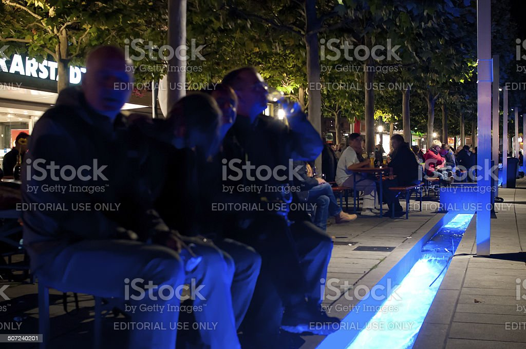 Party in front of department store royalty-free stock photo