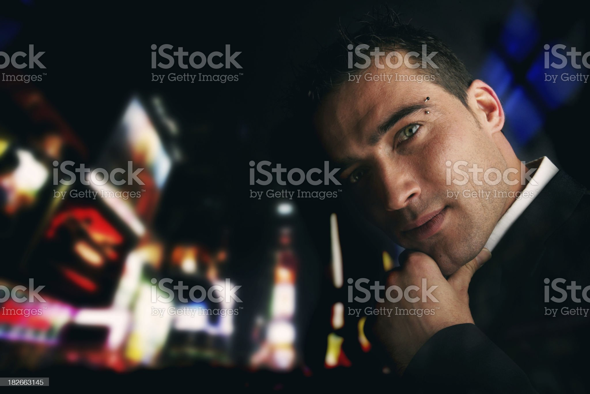 Party in Times square NY royalty-free stock photo
