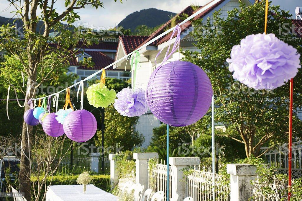 Party Lanterns stock photo