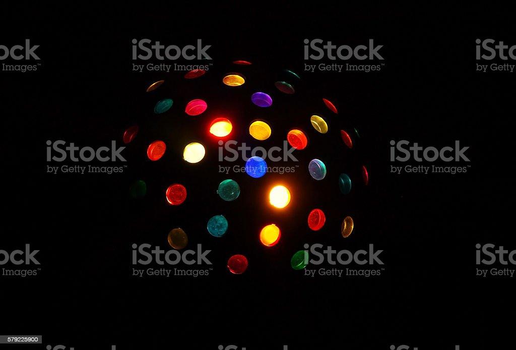 Party light disco ball stock photo