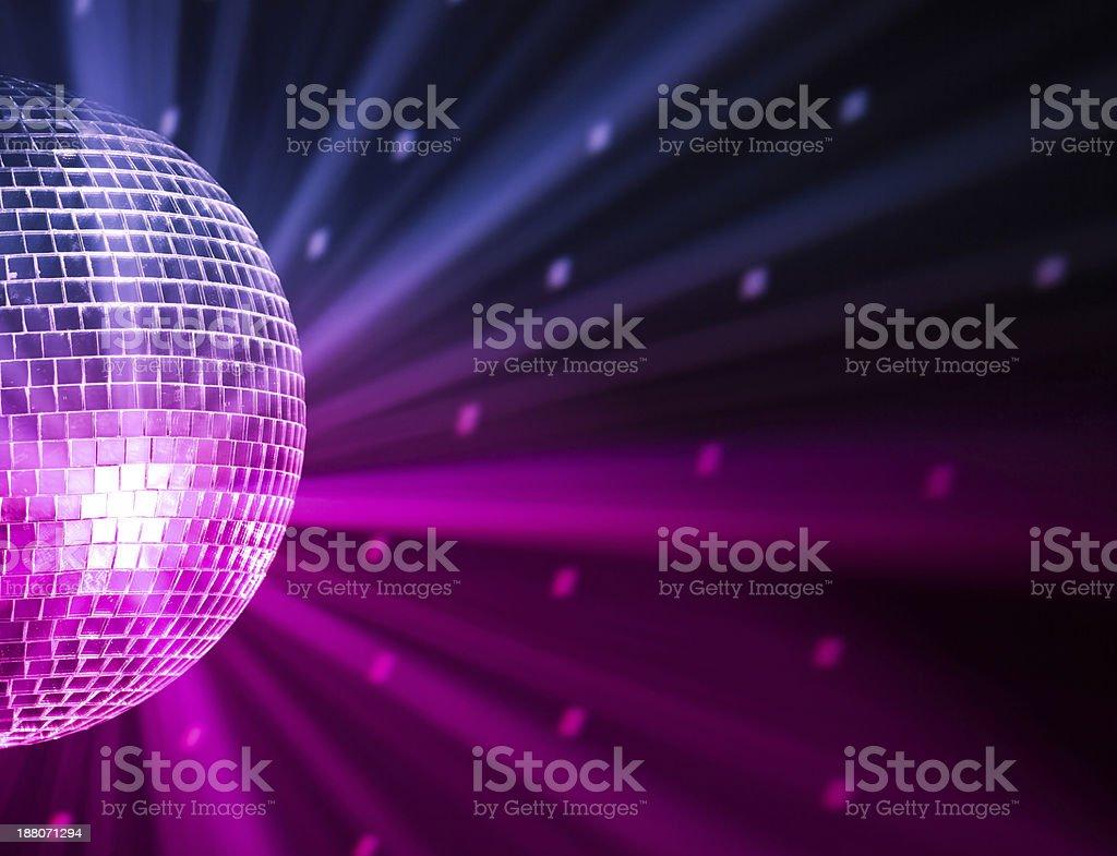 party lights disco ball stock photo