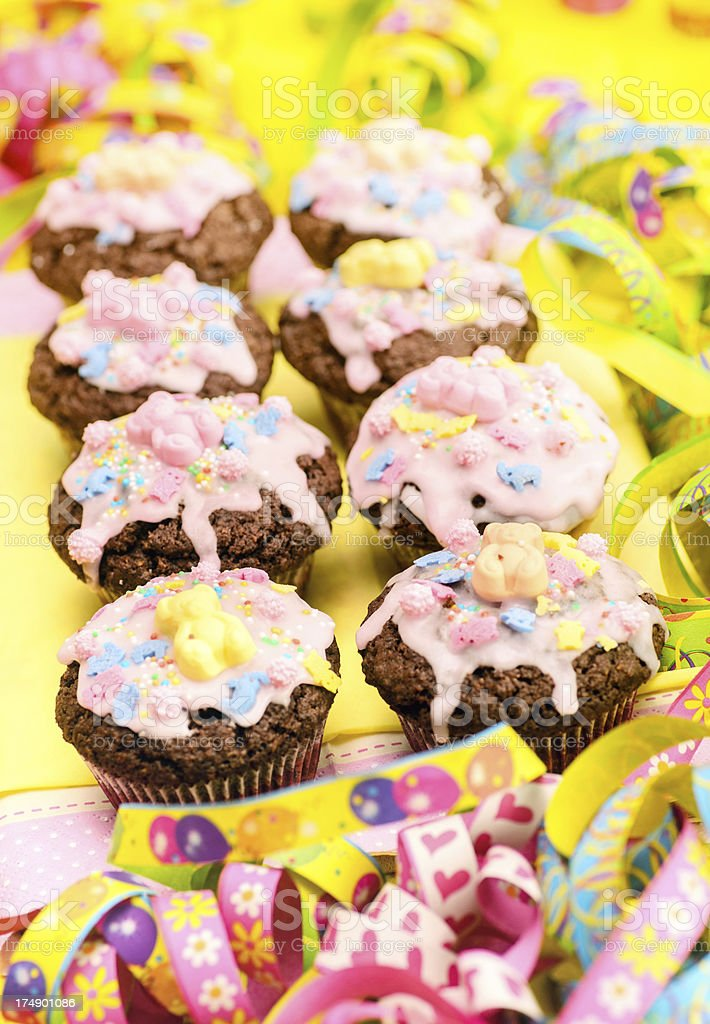 Party Muffins royalty-free stock photo