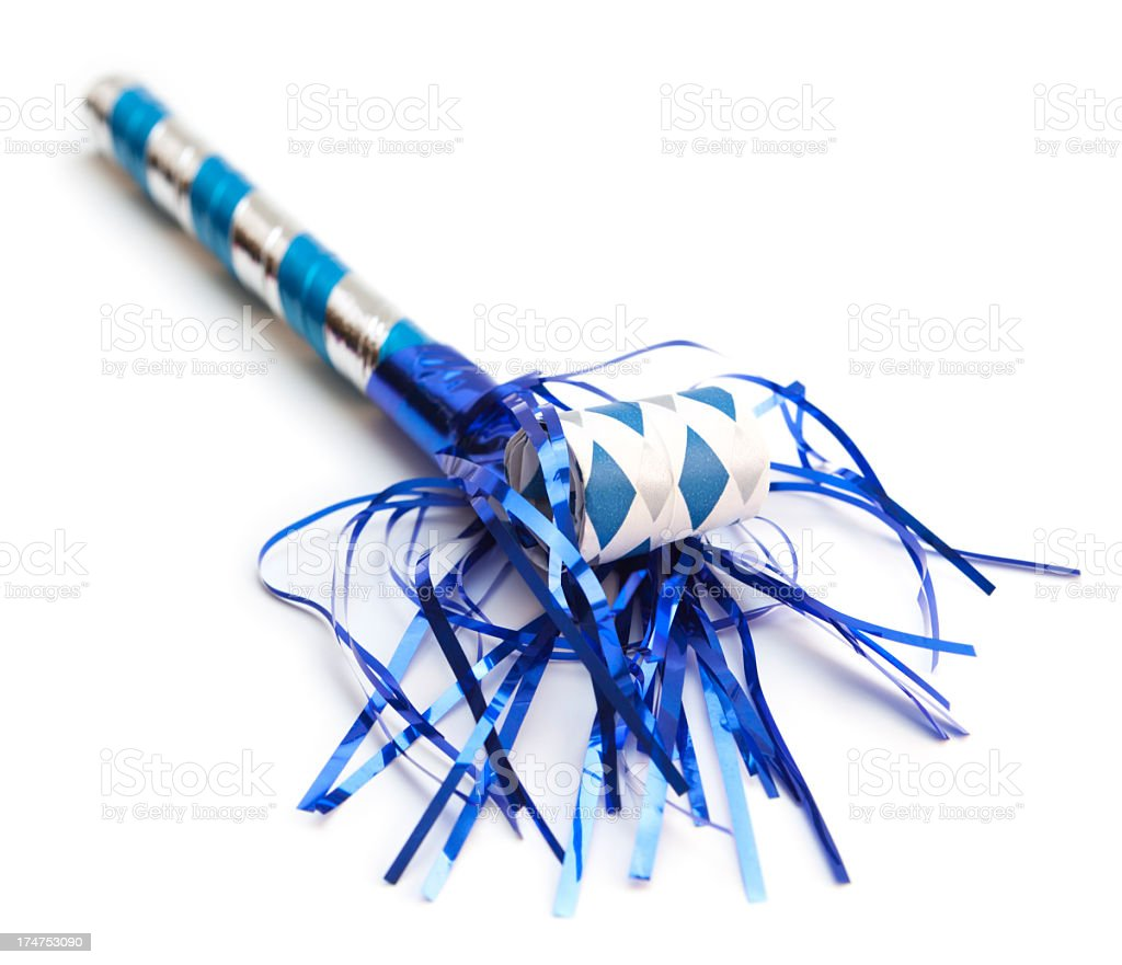 Party noise maker stock photo