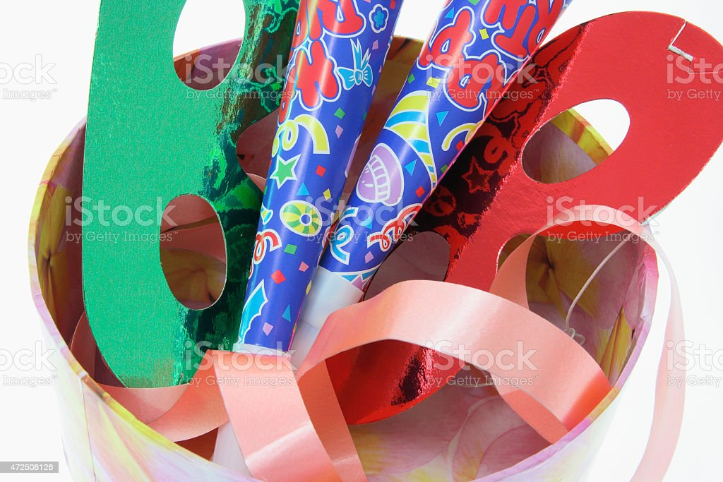 Party Novelties in Gift Box stock photo